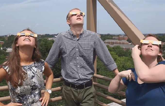 Viewing the solar eclipse: The blind truth